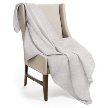 """DownTown Herringbone Throw Blanket - 50x70"""", Egyptian Cotton in Taupe - Overstock"""