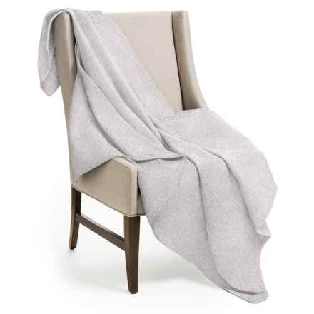 "DownTown Herringbone Throw Blanket - 50x70"", Egyptian Cotton in Taupe - Overstock"