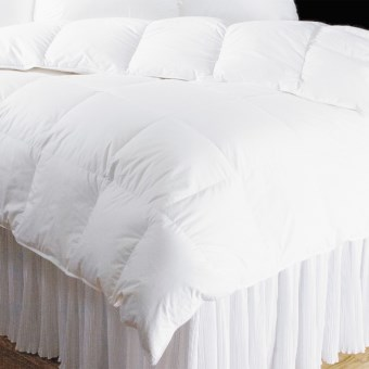 DownTown Hotel Collection Year-Round White Goose Down Comforter - King, 650+ Fill Power in White
