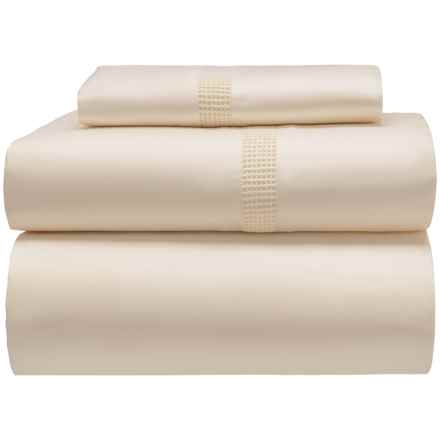 DownTown Isabella Cotton Sateen Sheet Set - Twin in Ivory - Closeouts