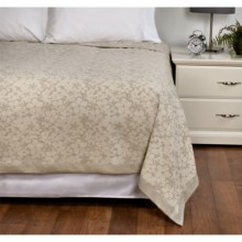 DownTown Kasey Abstract Floral Cotton Blanket - Queen in Ivory / Taupe - Overstock