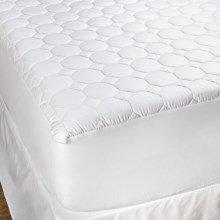 DownTown Luxury Cotton Mattress Pad - King in White - Overstock