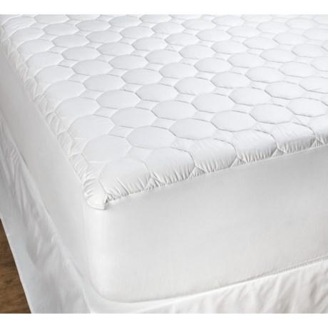 DownTown Luxury Mattress Pad - Cotton, Queen in White