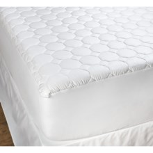 DownTown Luxury Mattress Pad - Full, Cotton in White - Overstock
