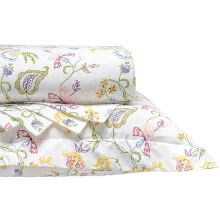 DownTown Madelyn Cotton Sateen Duvet Set - Queen, 400 TC in Floral - Closeouts