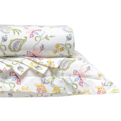 DownTown Madelyn Cotton Sateen Duvet Set - Queen, 400 TC in Floral