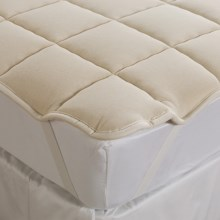 DownTown Mattress Pad - Full, Merino Wool Fill, Anchor Bands in Ecru - Closeouts