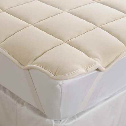 DownTown Mattress Pad - Full, Merino Wool Fill, Anchor Bands in Natural - Overstock