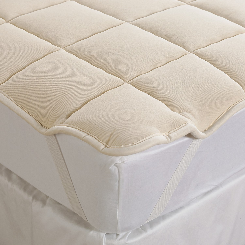 Luna Premium Mattress Protector Queen Size Wool Mattress Pads Full Size Wool Mattress Pads ...