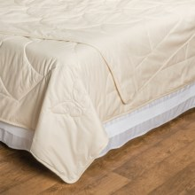 DownTown Natural Choices Silk-Filled Comforter - Queen in White - Overstock