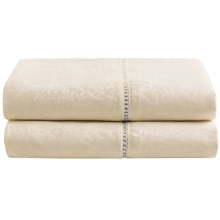 DownTown Paisley Jacquard Pillowcases - Standard, 270 TC Egyptian Cotton, Set of 2 in Sandstone - Closeouts