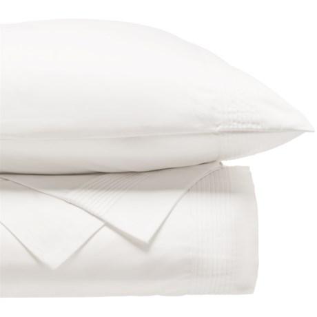DownTown Paris II Cotton Sateen Duvet Set - Queen, 400 TC in White