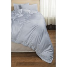 DownTown Paris II Duvet Cover - Twin, 400 TC Cotton Sateen in Blue - 2nds