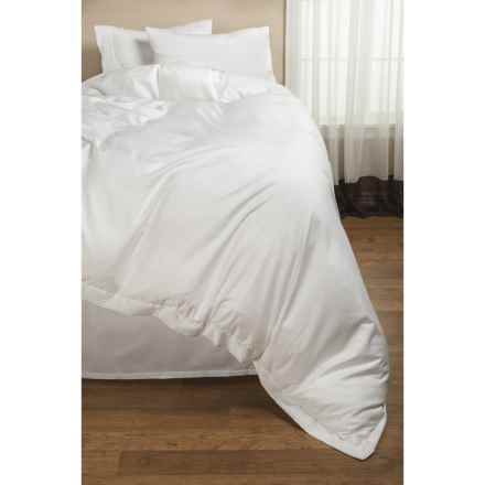 DownTown Paris II Duvet Cover - Twin, 400 TC Cotton Sateen in White - 2nds