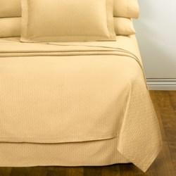 DownTown Paula Matelasse Bed Skirt - King, Mercerized Cotton in Butter