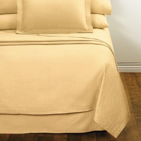 DownTown Paula Matelasse Bed Skirt - Twin, Mercerized Cotton in Butter