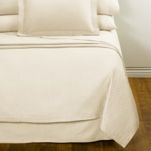 DownTown Paula Matelasse Bed Skirt - Twin, Mercerized Cotton in Vanilla - Closeouts