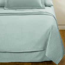 DownTown Paula Matelasse Coverlet - King, Mercerized Cotton in Aqua - Closeouts