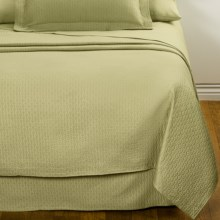 DownTown Paula Matelasse Coverlet - Queen, Mercerized Cotton in Moss - Closeouts