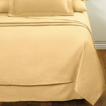 DownTown Paula Matelasse Coverlet - Twin, Mercerized Cotton in Butter - Closeouts