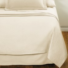 DownTown Paula Matelasse Coverlet - Twin, Mercerized Cotton in Vanilla - Closeouts