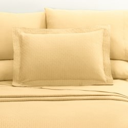 DownTown Paula Matelasse Pillow Sham - King, Mercerized Cotton in Butter