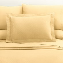 DownTown Paula Matelasse Pillow Sham - Standard, Mercerized Cotton in Butter - Closeouts
