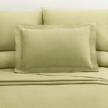 DownTown Paula Matelasse Pillow Sham - Standard, Mercerized Cotton in Moss - Closeouts