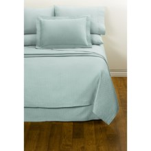 DownTown Paula Sheet Set - Twin, 400 TC Egyptian Cotton in Aqua - Closeouts