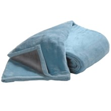 DownTown Reversible Egyptian Cotton Blanket - King in Blue/Grey - Overstock