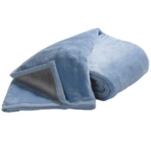 DownTown Reversible Egyptian Cotton Blanket - King in Blue/Grey - Closeouts