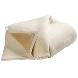 DownTown Reversible Egyptian Cotton Blanket - Queen in Ivory/Camel