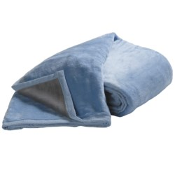 DownTown Reversible Egyptian Cotton Blanket - Twin in Blue/Grey