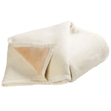 DownTown Reversible Egyptian Cotton Blanket - Twin in Ivory/Camel - Overstock