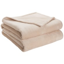 DownTown Shangri-La Plush Blanket - King, Cotton-Rayon in Petal - Closeouts