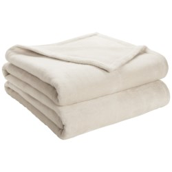 DownTown Shangri-La Plush Blanket - Queen, Cotton-Rayon in Petal