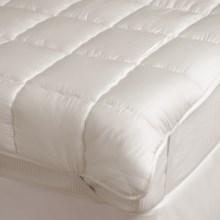 DownTown Silk Fiber Fill Luxury Mattress Pad - Queen in Natural - Overstock