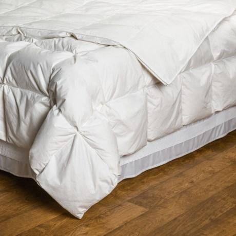 DownTown Silver Villa Collection European White Down Comforter - Super Queen in White