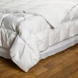 DownTown Silver Villa Collection European White Down Comforter - Twin