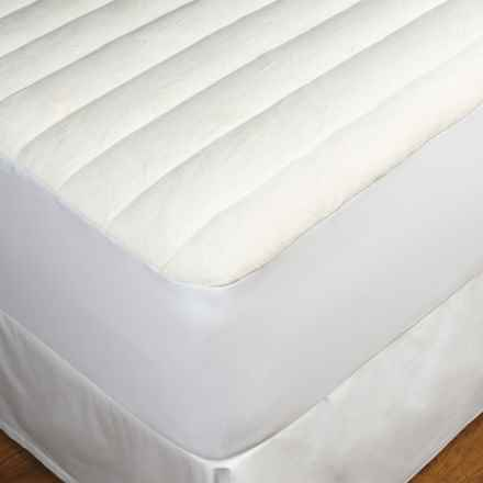 DownTown Terry-Top Comfort Mattress Pad - Full in White - Overstock