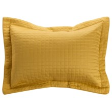 DownTown Urban Quilted Collection Pillow Sham - King, Egyptian Cotton Sateen in Gold - Closeouts