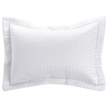 DownTown Urban Quilted Collection Pillow Sham - King, Egyptian Cotton Sateen in White - Closeouts