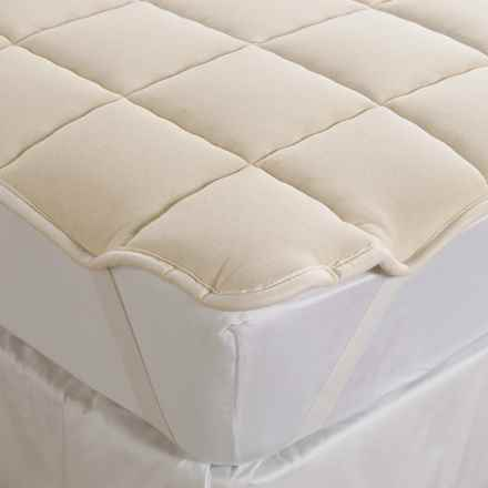 DownTown Wool-Filled Mattress Pad - California King in Natural - Overstock