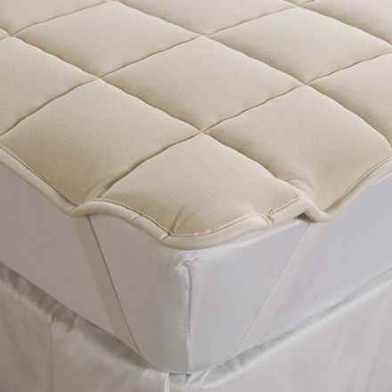 DownTown Wool-Filled Mattress Pad - King in Natural - Overstock