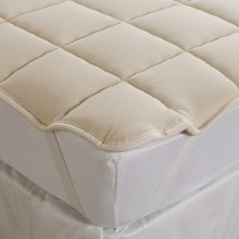 DownTown Wool-Filled Mattress Pad - Twin in Natural - Overstock