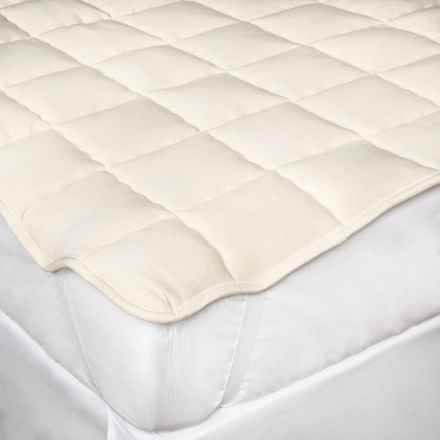 DownTown Wool-Filled Mattress Pad with Anchor Bands - Full in Natural - Overstock