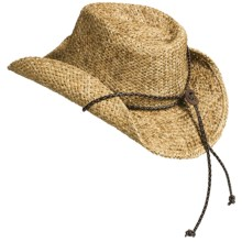 DPC Global Trends Western Outback Hat - Straw (For Men and Women) in Natural - Closeouts