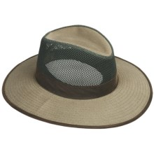 DPC Outdoor Design Canvas Safari Hat - UPF 50+, Mesh Crown (For Men And Women) in Olive - Closeouts