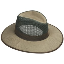 DPC Outdoor Design Canvas Safari Hat - UPF 50+, Mesh Crown (For Men And Women) in Olive
