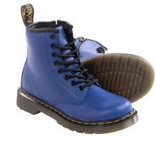 Dr. Martens Delaney Boots - Leather (For Little Kids) in Wild Blue - Closeouts